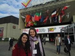 Carolina Rabei and me in front of the Fair